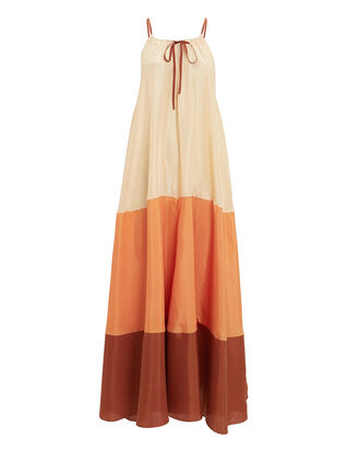 Clara Maxi Dress, CREAM/ORANGE/RUST, hi-res
