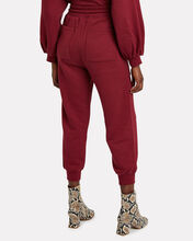 Charley Knit Cotton Joggers, MERLOT, hi-res