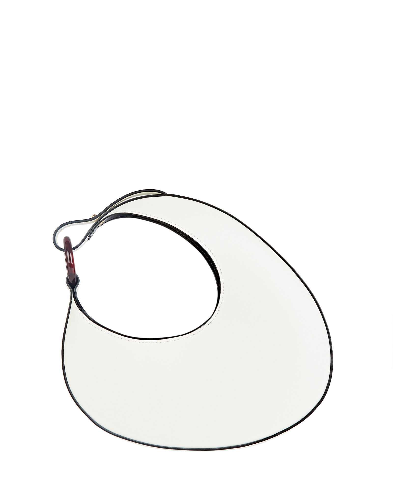 Micro Ostra Leather Shoulder Bag, WHITE, hi-res