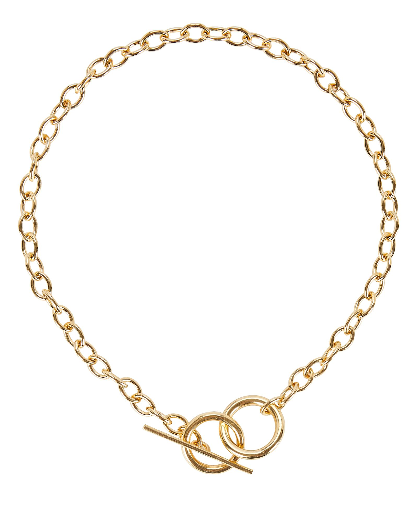 Anais Toggle Chain-Link Necklace, GOLD, hi-res
