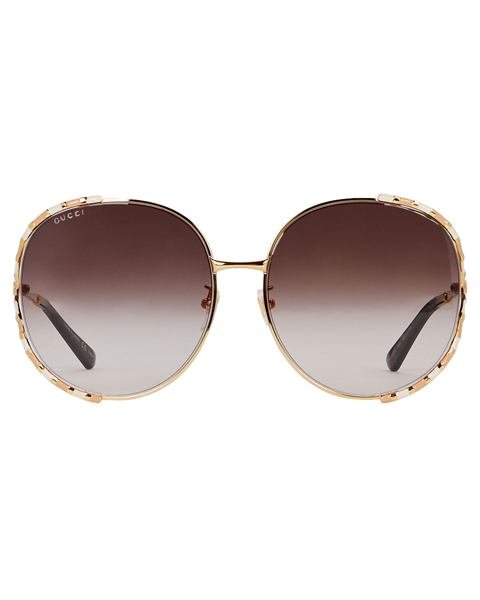 Oversized Rounded Sunglasses, GOLD, hi-res