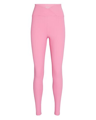 Veronica Rib Knit Leggings, PINK, hi-res