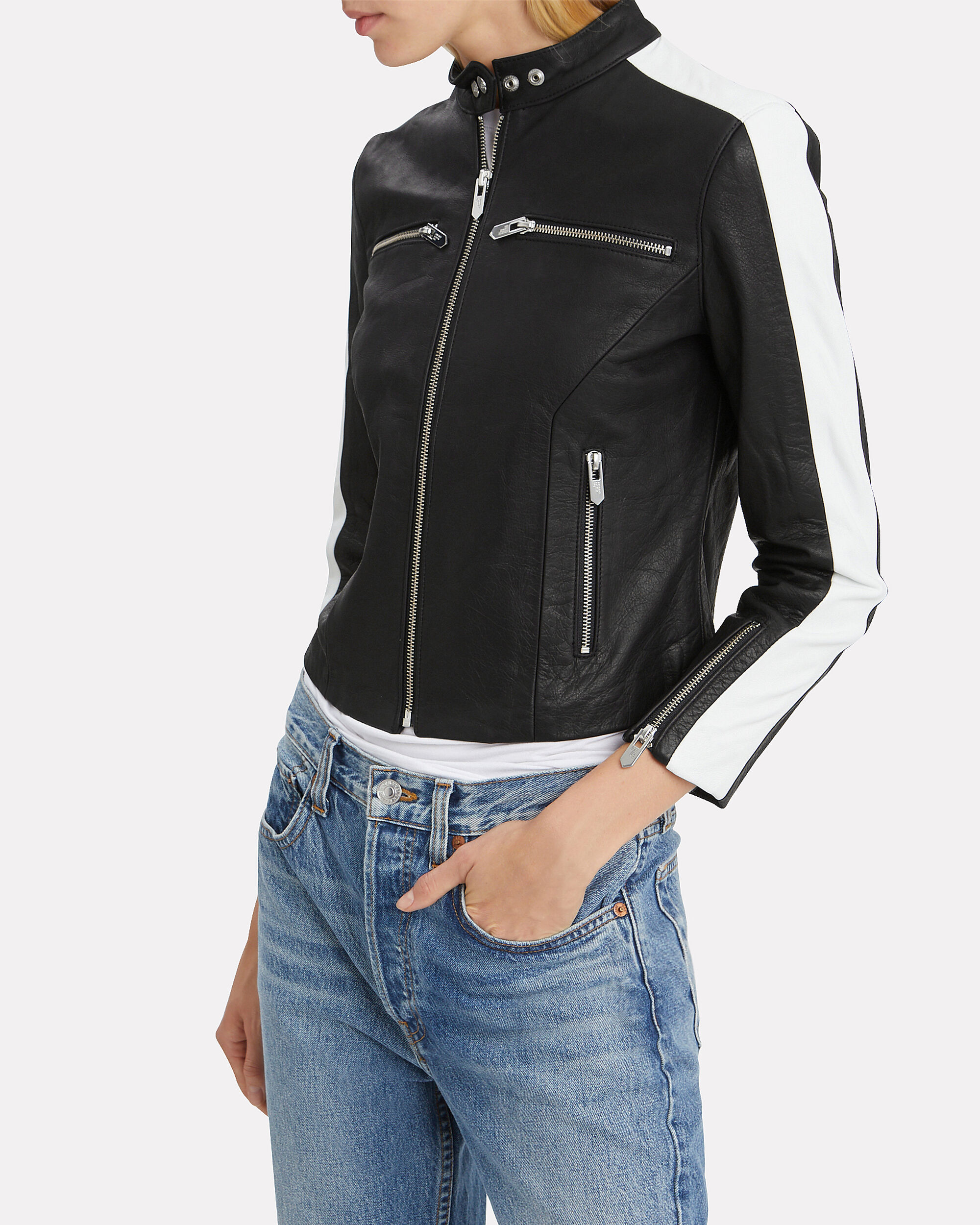 Lucca Racer Jacket, BLACK, hi-res