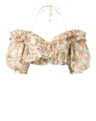 Painted Heart Folds Bodice, PRI-FLORAL, hi-res