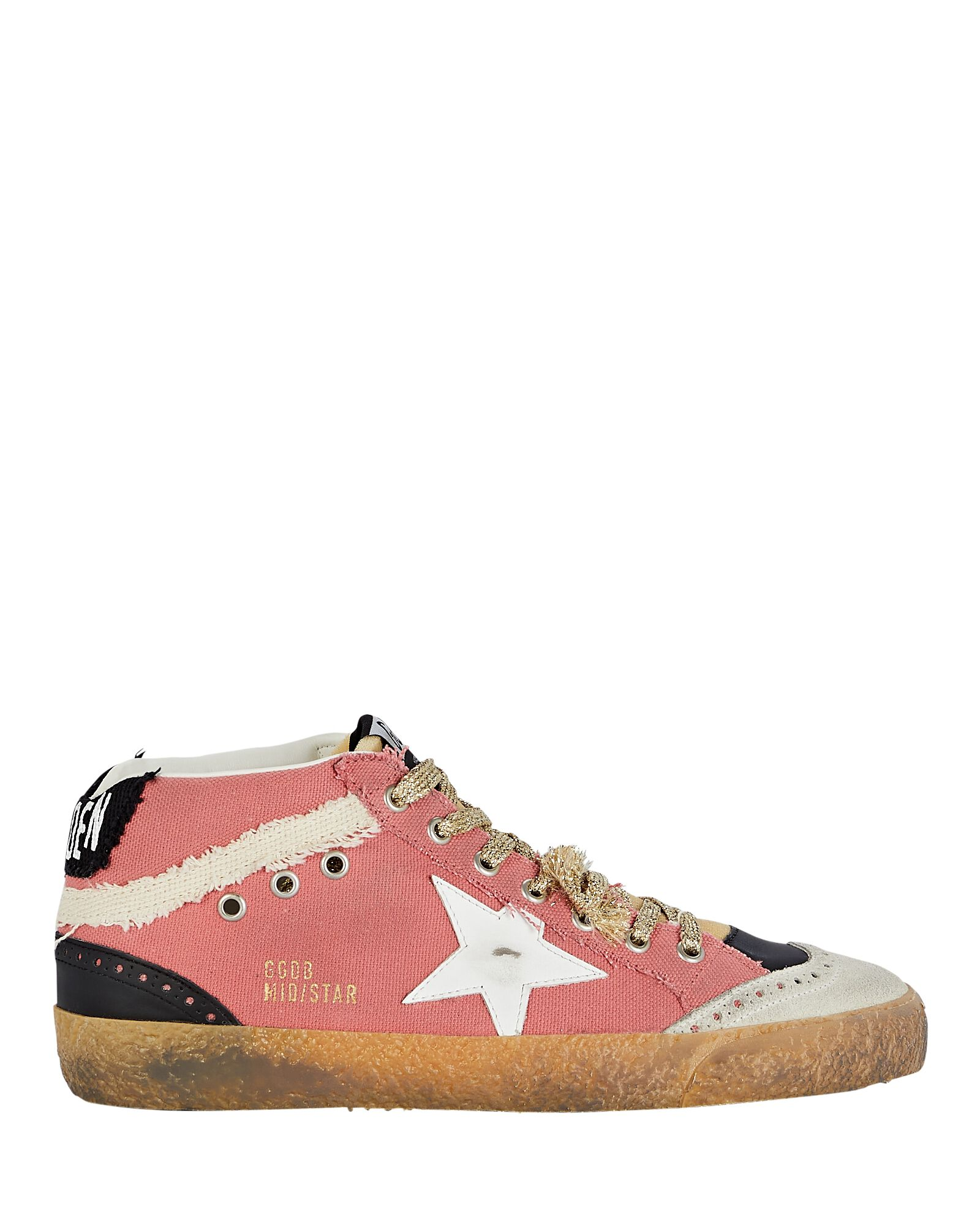 Mid Star Canvas Sneakers, PINK, hi-res