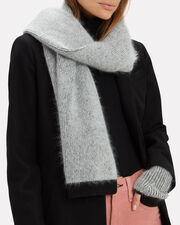 Colorblock Scarf, GREY, hi-res