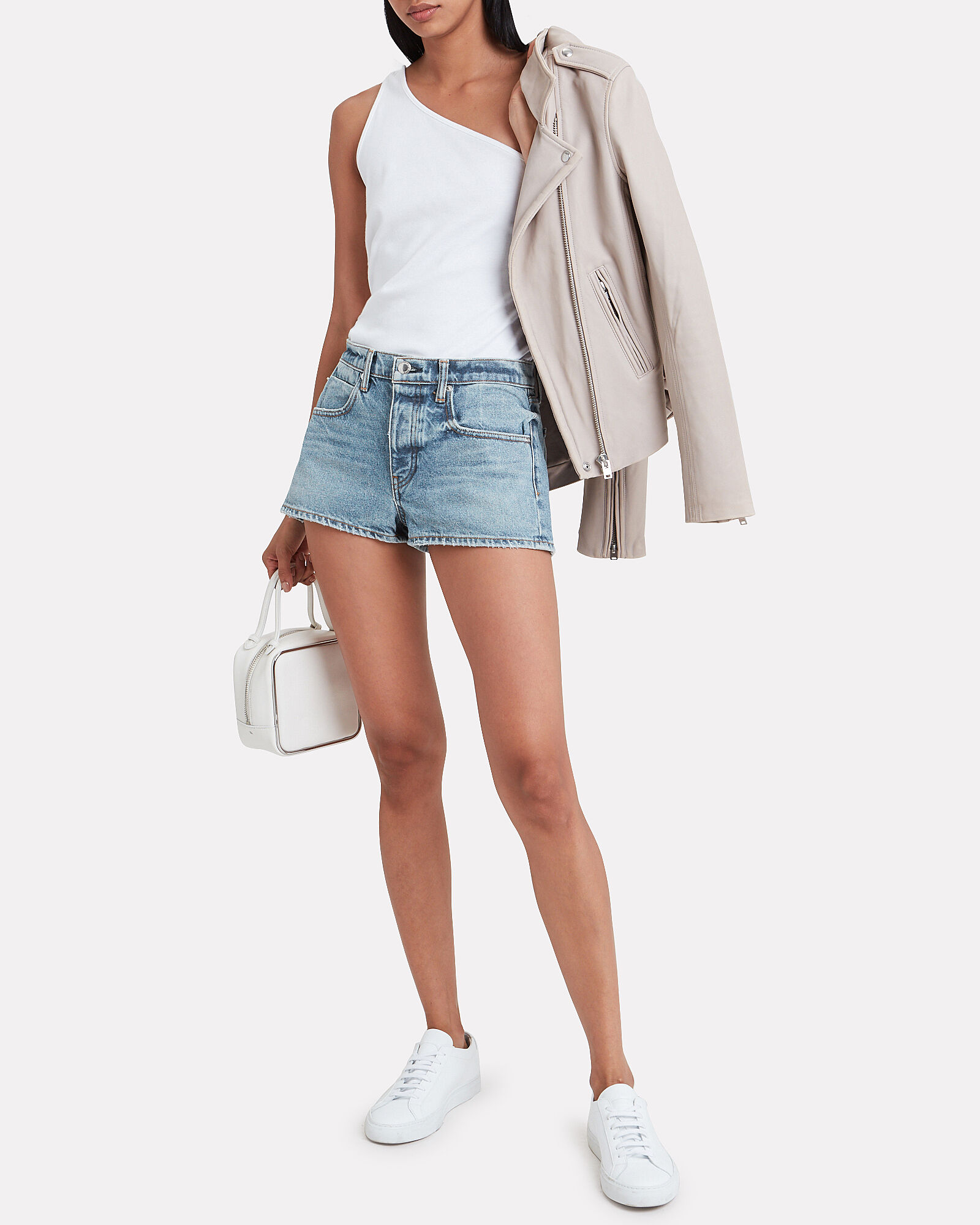 Bitty Micro Denim Shorts, DENIM-LT, hi-res