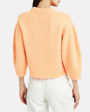 Cozette Cropped Alpaca & Wool Sweater, TANGERINE, hi-res