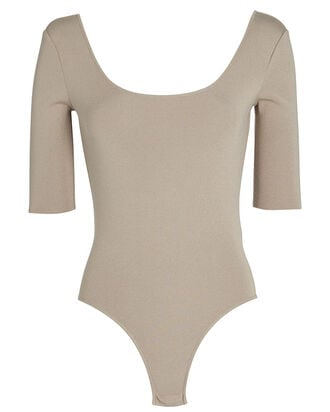 Ballerina Scoop Neck Bodysuit, BEIGE, hi-res