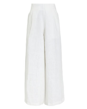 Meridian Linen Trousers, WHITE, hi-res