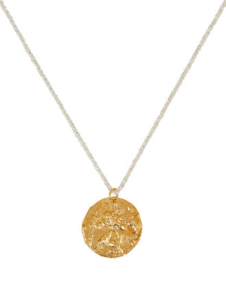 St. Christopher Medal Necklace, GOLD, hi-res