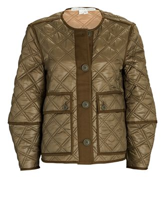 Marika Reversible Quilted Jacket, OLIVE/ARMY, hi-res