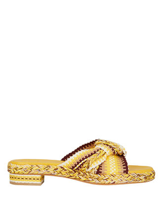 Bella Braided Slides, YELLOW, hi-res