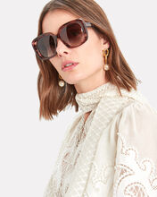Nella Oversized Square Sunglasses, PINK, hi-res