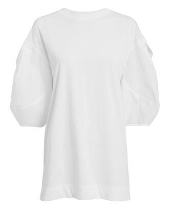 Puff Sleeve Oversized T-Shirt, WHITE, hi-res