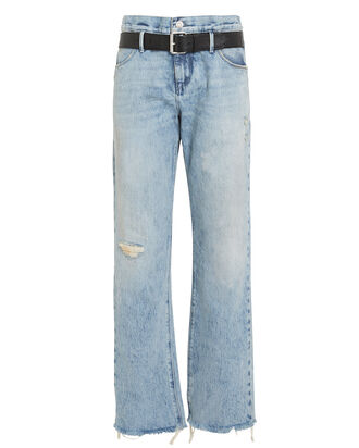 Dexter Half Belt Jeans, LIGHT WASH DENIM, hi-res