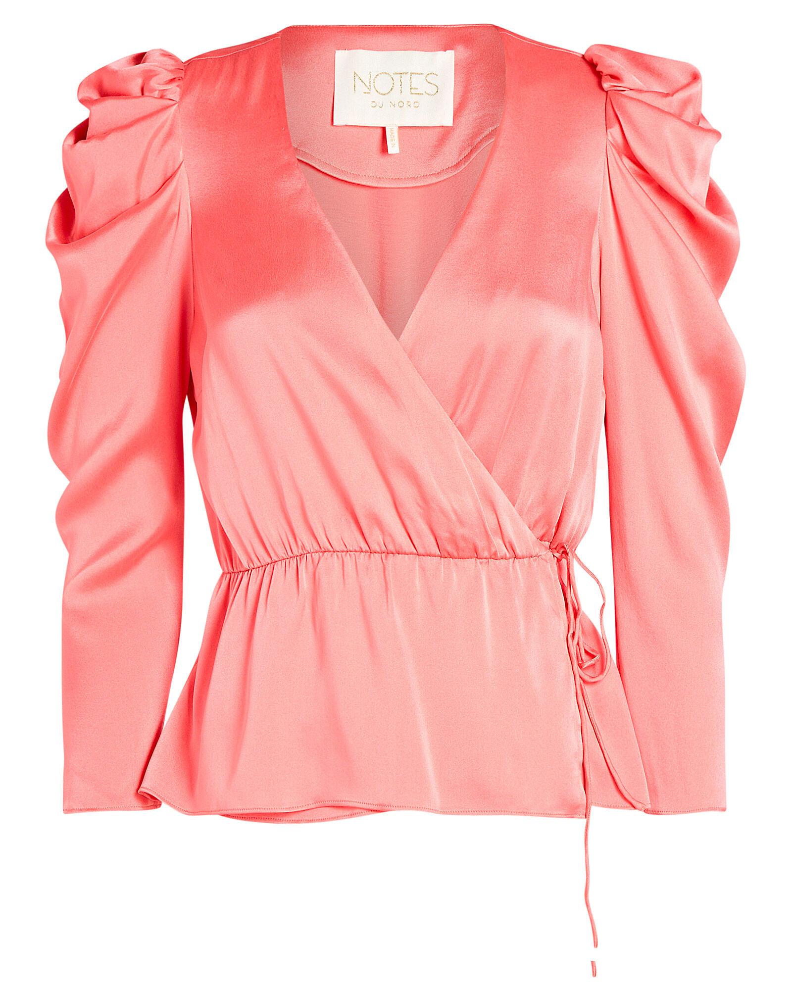 Olena Silk Wrap Top, PINK, hi-res