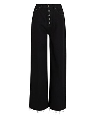 Charley Flared Wide-Leg Jeans, BLACK BEAUTY, hi-res