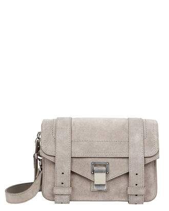 PS1 Mini Suede Grey Crossbody, GREY, hi-res