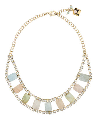 Incantesimo Crystal Necklace, GOLD, hi-res