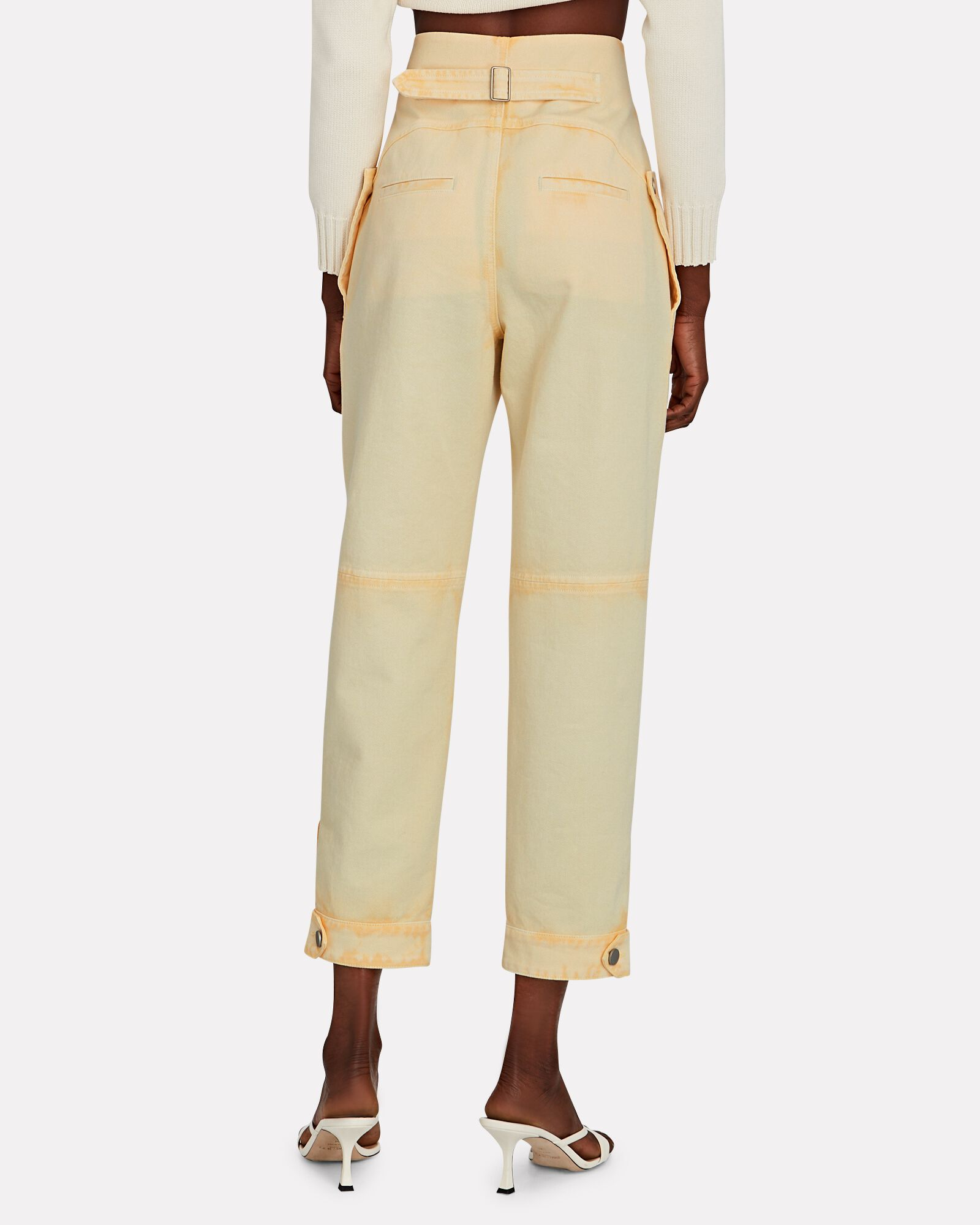 Tie-Dye High-Rise Jeans, YELLOW, hi-res