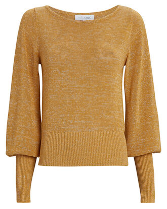 Mira Bishop Sleeve Sweater, GOLD, hi-res