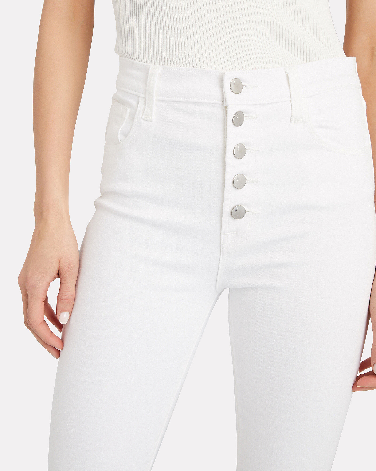 Lillie High-Rise Skinny Jeans, WHITE, hi-res
