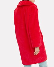 Camille Cocoon Coat, RED, hi-res