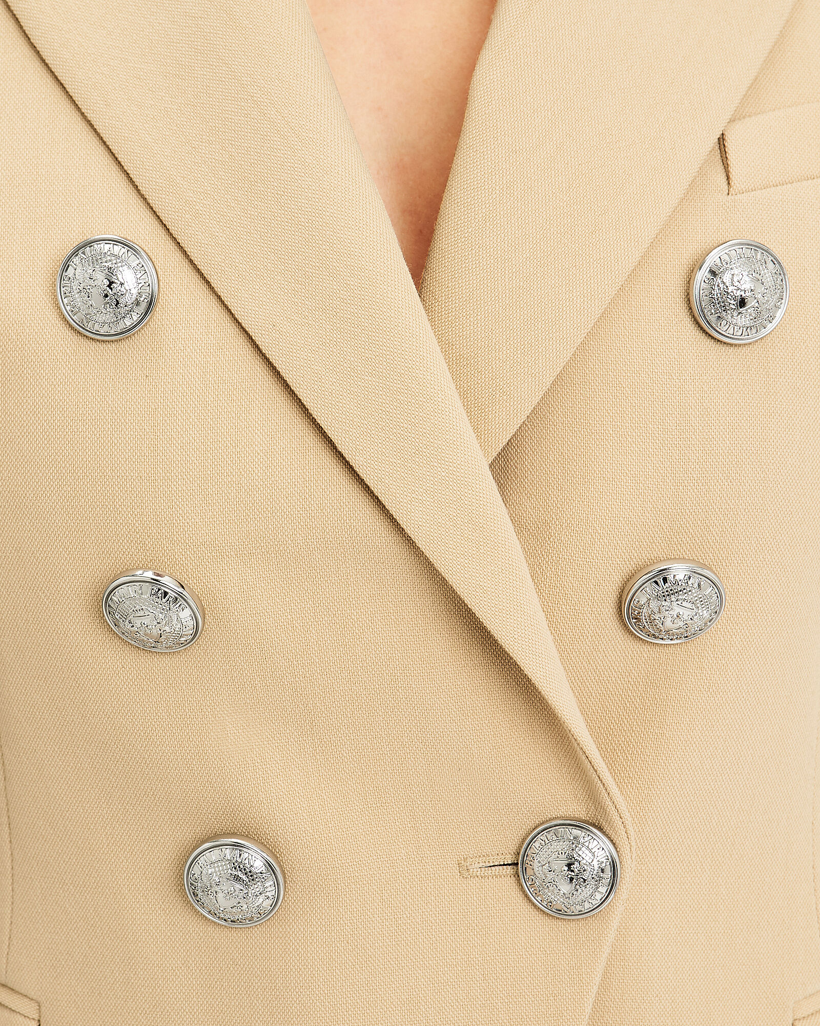 Sable Classic Double-Breasted Blazer, BEIGE, hi-res