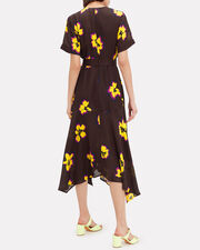 Claire Floral Midi Dress, CHOCOLATE/YELLOW FLORAL, hi-res