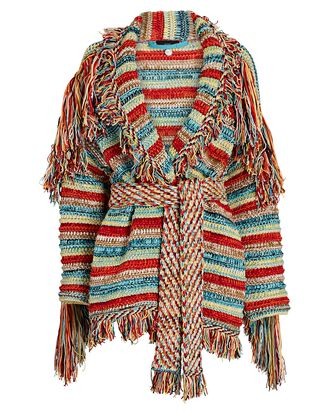 Sunset Over The Colorado River Cardigan, RED/BLUE/GREEN, hi-res