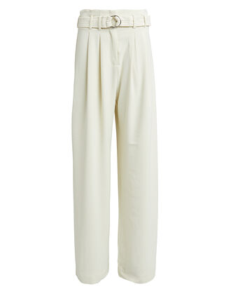Mella Paperbag Pants, WHITE, hi-res