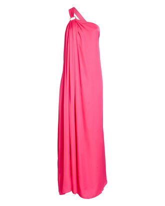 Theodora One-Shoulder Gown, PINK, hi-res