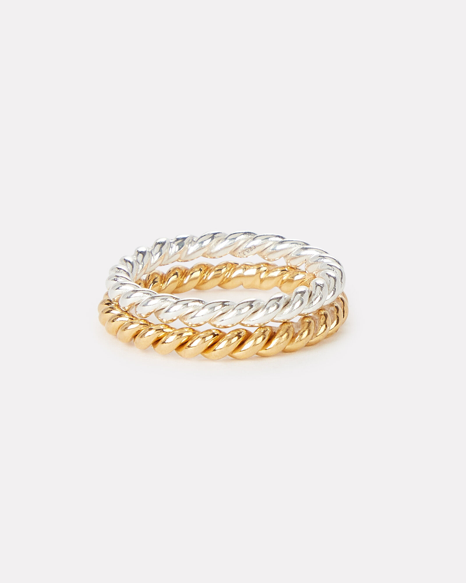 Twisted Stacking Rings, SILVER/GOLD, hi-res