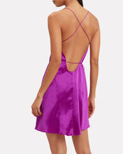 Strappy Silk Wrap Dress, PURPLE, hi-res