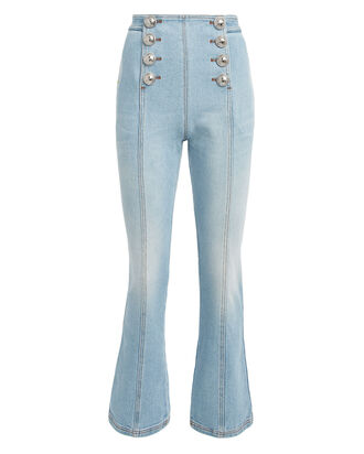 Flared Sailor Jeans, LIGHT WASH DENIM, hi-res