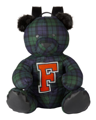 Plaid Bear Mascot Backpack, PATTERN, hi-res