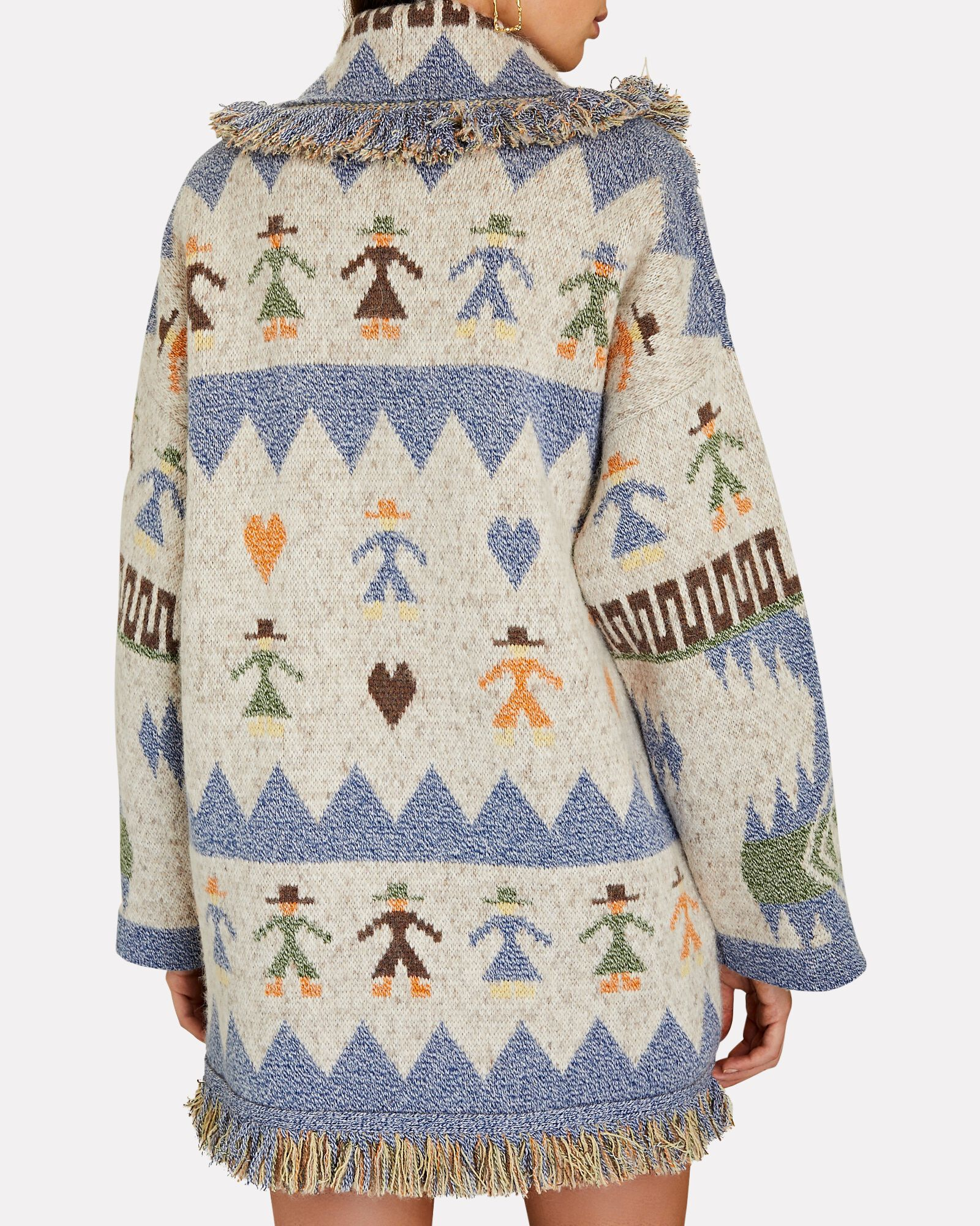 Love Each Other Fringed Wrap Cardigan, MULTI, hi-res