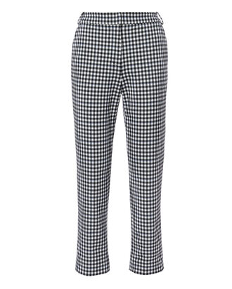 Gingham Beatle Trousers, BLK/WHT, hi-res