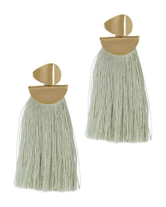 Crater Fringe Earrings, IVORY, hi-res