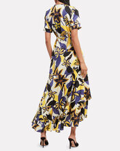 Sotella Tahitian Floral Wrap Dress, WHITE/BLUE/YELLOW, hi-res