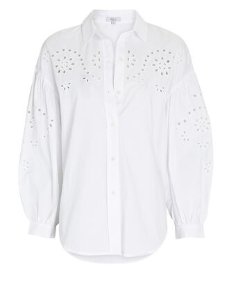 Alister Broderie Anglaise Shirt, WHITE, hi-res