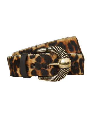 Leopard Print Waist Belt, BROWN/BLACK, hi-res
