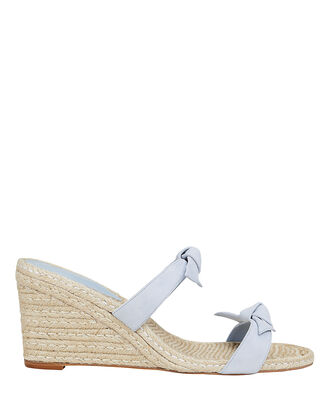 Clarita Double Bow Wedges, PERIWINKLE, hi-res