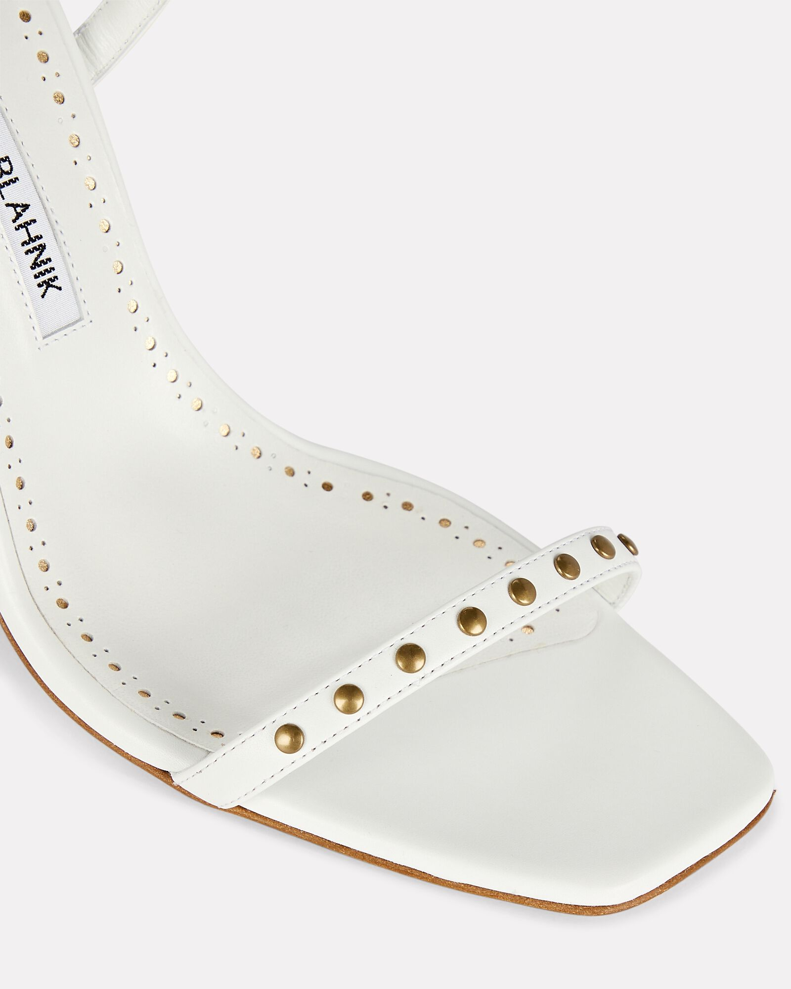 Morata Studded Strappy Leather Sandals, WHITE, hi-res