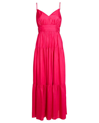 Noelle Tiered Maxi Dress, PINK, hi-res
