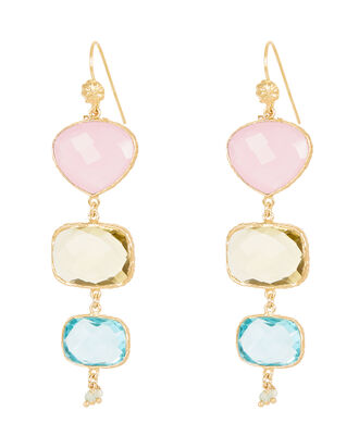 Silene Drop Earrings, GOLD, hi-res