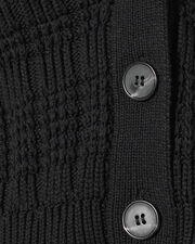 Rhea Cropped Cardigan Sweater, BLACK, hi-res