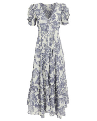 Andy Voile Floral Dress, BLUE/FLORAL, hi-res