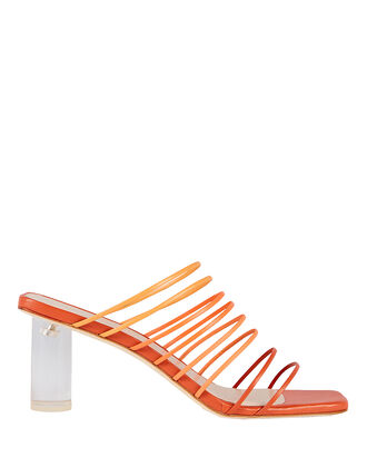 Zoe Strappy Leather Sandals, RUST, hi-res